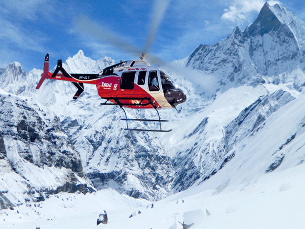 Helicopter Tour to Annapurna Base Camp