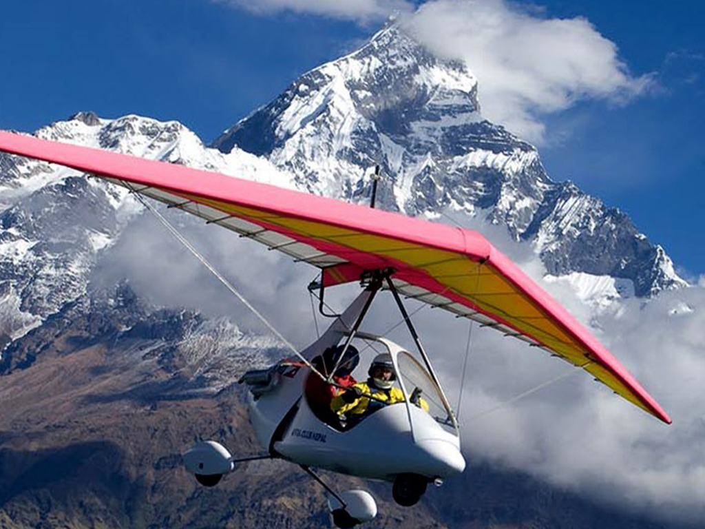 Ultralight Flight in Pokhara