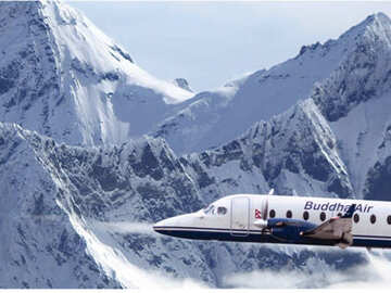 Mountain Flight with view of Mt Everest